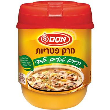 אבקת מרק פטריות פרווה רכיבים טבעיים 400 גרם