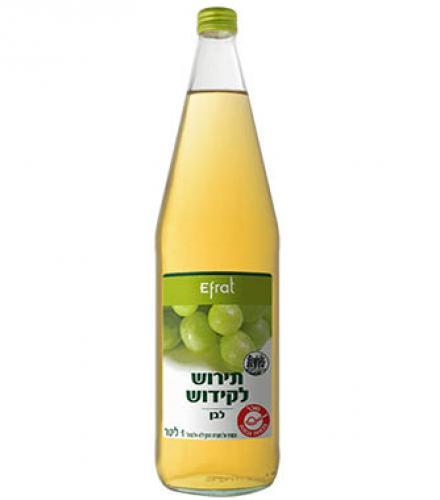 מיץ ענבים לבן 1 ליטר אפרת  עד