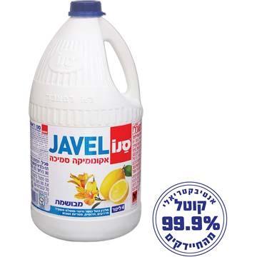 אקונומיקה ז'אוול סמיכה בריח לימון 4 ליטר - סנו