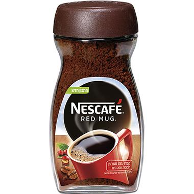 Nescafe - קפה נמס מגורען רד מאג 200 גרם