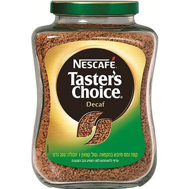 קפה טייסטר'ס צ'ויס נטול קפאין 200 גרם