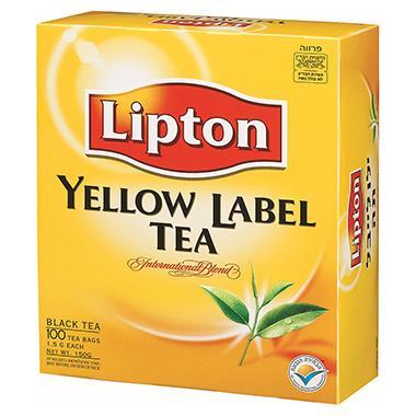 שקיקי תה ליפטון  1.5 גרם * 100 שקיקים