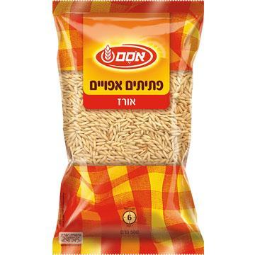 פתיתים אפויים אורז 500 גרם - אסם