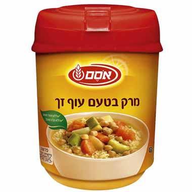 אבקת מרק בטעם עוף זך פרווה 400 גרם - אסם
