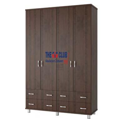 ארון בגדים 4 דלתות ו 4 מגירות על במה דגם חן