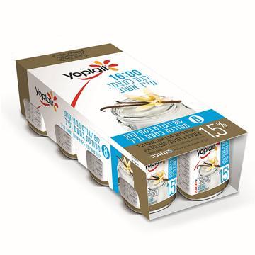 מארז יוגורט יופלה לבן מעודן 1.5% 150*8 תנובה בד