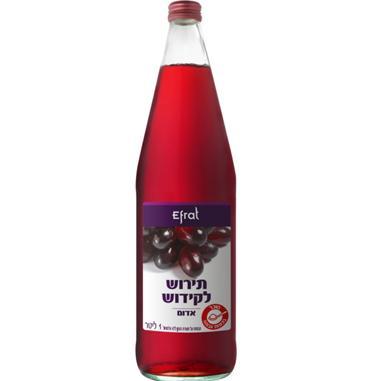 מיץ ענבים תירוש יקבי אפרת 1 ליטר