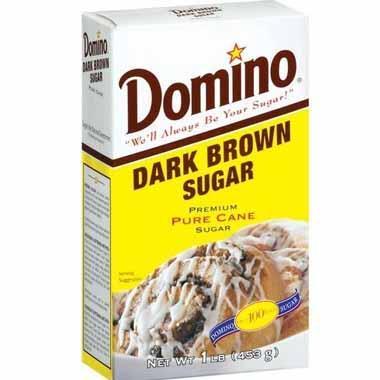 סוכר חום כהה 453 גרם דומינו