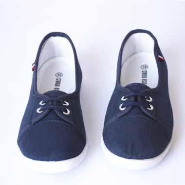 נעלי בד כחול