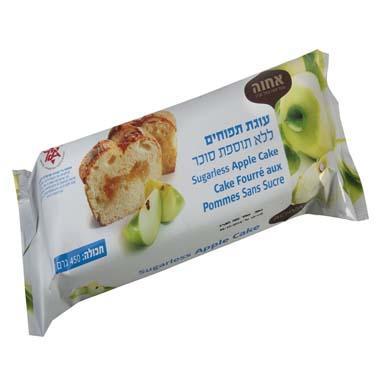 עוגת תפוחים ללא תוספת סוכר אחוה 450 גרם