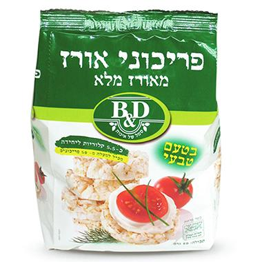 פריכוני אורז בטעם טבעי בי אנד די 80 גרם