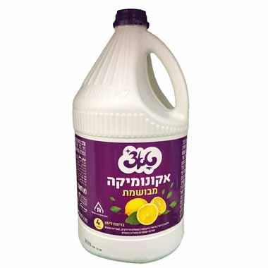 אקונומיקה מבושמת בניחוח לימון טאצ' 4 ליטר מאושר לפסח עד