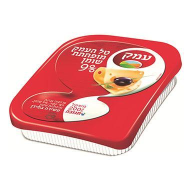 גבינה צהובה עמק 9% 200 גרם תנובה ועדת מהדרין