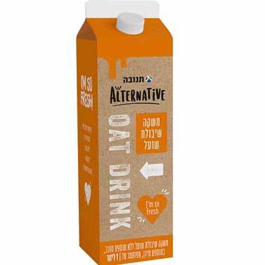 משקה שיבולת שועל תנובה אלטרנטיב (1 ליטר)