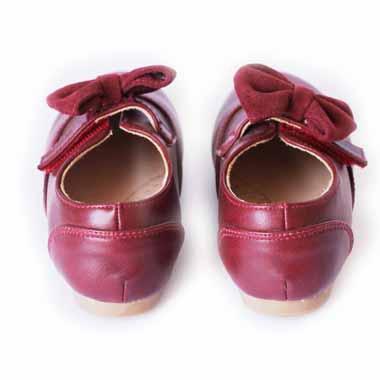 נעלי צעד ראשון בורדו עם פפיון