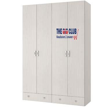 ארון בגדים 4 דלתות ו 2 מגירות דגם מאור