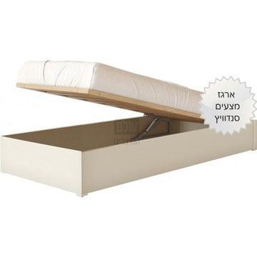מיטה יהודית מרופדת ושידה דגם US2 סנדוויץ דגם רחל
