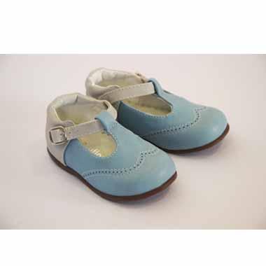 נעלי בייבי תכלת לבן