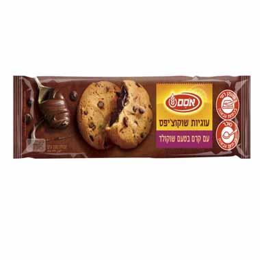 עוגיות שוקולד צ'יפס קרם בטעם שוקולד 220 גרם אסם