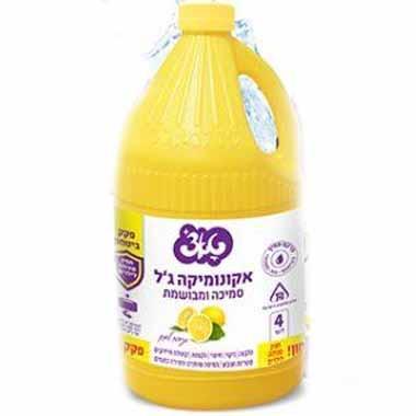 אקונומיקה סמיכה ומבושמת בניחוח לימון 4 ליטר טאצ'