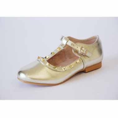 נעלי זהב עם יהלומים