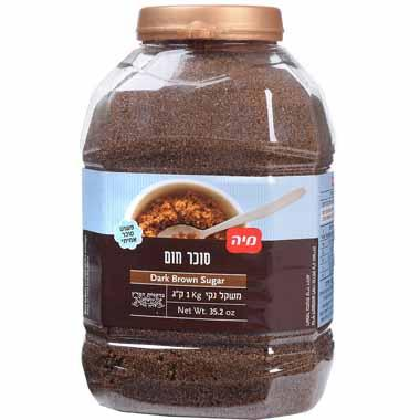 סוכר חום בצנצנת 1 ק