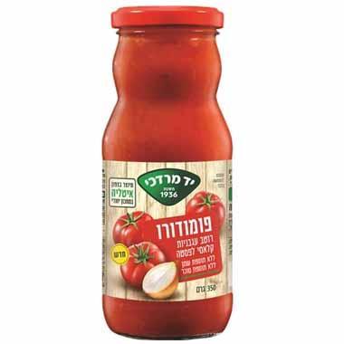 רוטב עגבניות קלאסי לפסטה פומודורו ללא תוספת סוכר 350 גרם - יד מרדכי