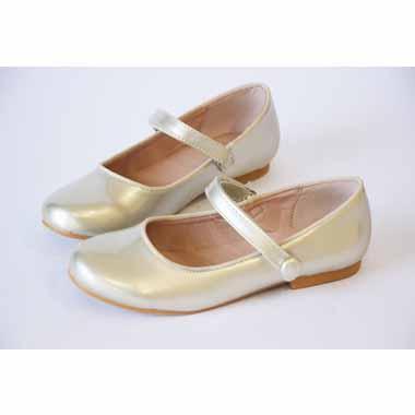 נעל שטוחה סגור עם סקוטש זהב