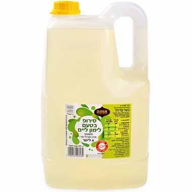 סירופ בטעם לימון ליים 4 ליטר אחוה