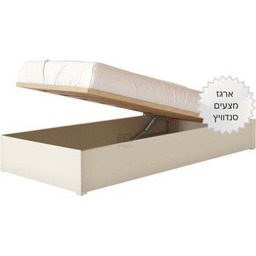 מיטה יהודית מרופדת ושידה דגם AS2 סנדוויץ דגם רבקה