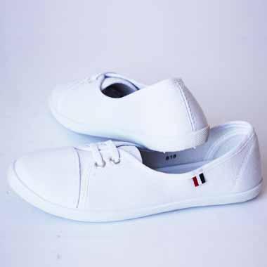 נעלי בד צבע לבן