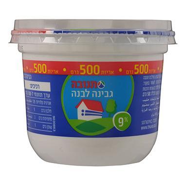 גבינה לבנה 9% 500 גרם