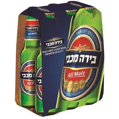 בירה מכבי 7.9% אלכוהול 6*330 מ