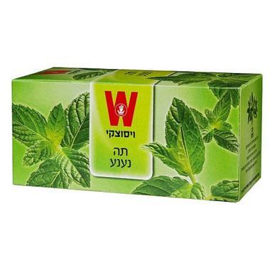 שקיקי תה נענע 25 שקיקים משקל שקיק 1.7 גרם - ויסוצקי