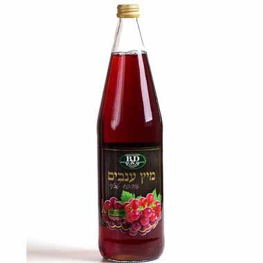 מיץ ענבים טבעי אדום 1 ליטר בי אנד די עד