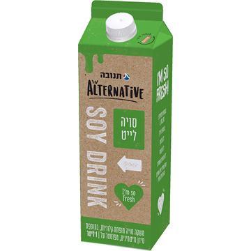 משקה סויה לייט תנובה אלטרנטיב 1 ליטר
