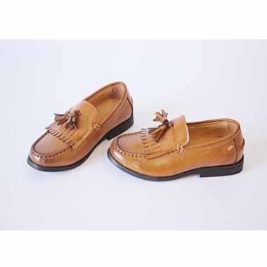 נעל שטוחה יפה - חומה