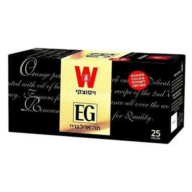 שקיקי תה ארל גריי בטעם ברגמוט 25 שקיקים משקל שקיק 1.5 גרם - ויסוצקי