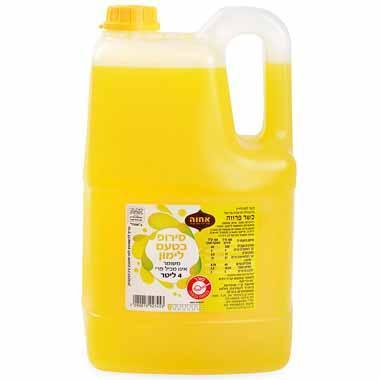 סירופ בטעם לימון 4 ליטר אחוה
