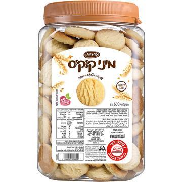 מיני קוקיס בטעם חמאה ללא תוספת סוכר כרמית 600 גרם