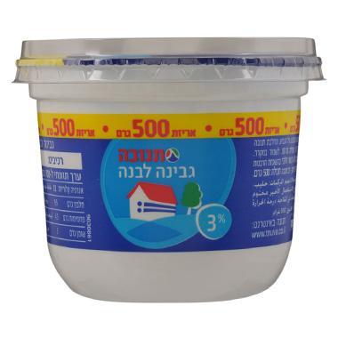 גבינה לבנה 3% 500 גרם