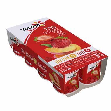 יופלה שמיניה 4 תות + 4 אפרסק 3%