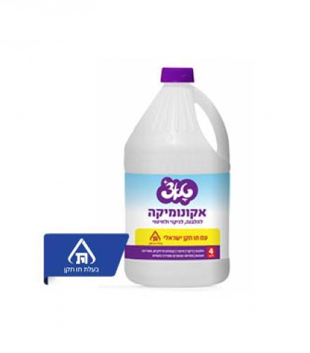 אקונומיקה ללא בישום טאצ' 4 ליטר  עד