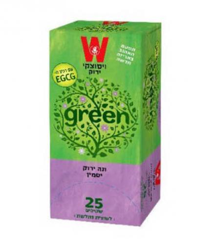 שקיקי תה ירוק יסמין 25 שקיקים משקל שקיק 1.5 גרם - ויסוצקי