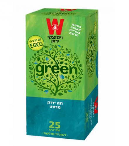 שקיקי תה ירוק מרווה 25 שקיקים משקל שקיק 1.5 גרם - ויסוצקי