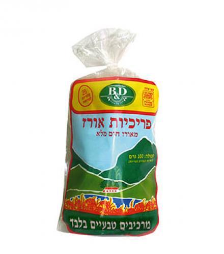 פריכיות אורז עם מלח ללא גלוטן 100 גרם בי אנד די