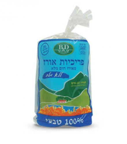 פריכיות אורז ללא מלח וללא גלוטן 100 גרם בי אנד די