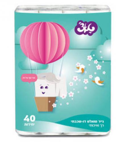נייר טואלט כדור פורח 40 גלילים טא'צ