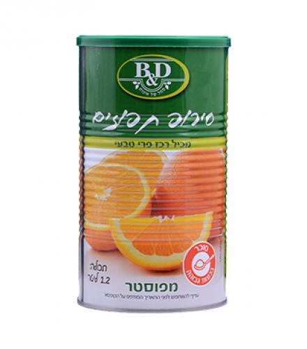 סירופ תפוזים 1.2 ליטר בי אנד די