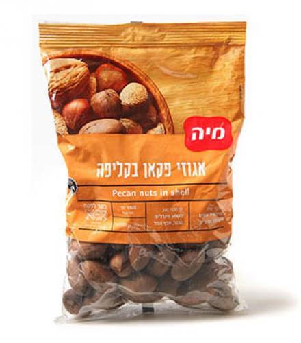 אגוזי פקאן בקליפה 400 גרם מיה